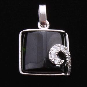 Blacker Toermalijn hanger kussen vierkant